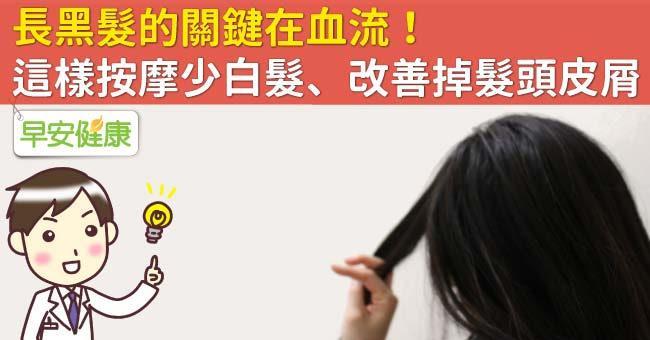 長黑髮的關鍵在血流!這樣按摩少白髮、改善掉髮頭皮屑