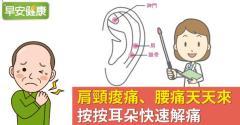 肩頸痠痛、腰痛天天來,按按耳朵快速解痛
