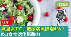 氣溫高1℃,糖尿病風險增4%!吃3食物活化燃脂力