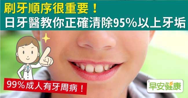 刷牙順序很重要!牙醫教你正確刷牙清除95%以上牙垢