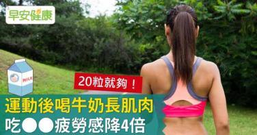 運動後喝牛奶長肌肉,吃__疲勞感降4倍