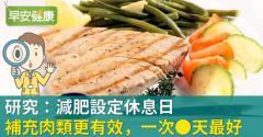 研究:減肥設定休息日、補充肉類更有效,一次_天最好