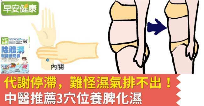 代謝停滯,難怪濕氣排不出!中醫推薦3穴位養脾化濕