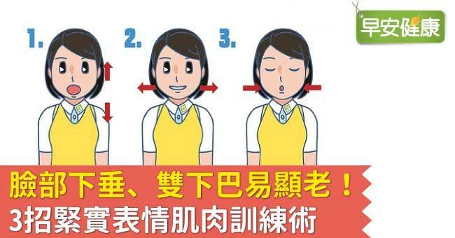 臉部下垂、雙下巴易顯老!3招緊實表情肌肉訓練術