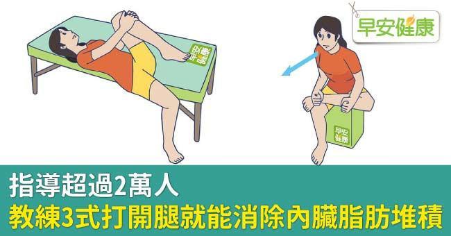 指導超過2萬人,教練3式打開腿就能消除內臟脂肪堆積