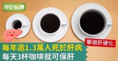 每年逾1.3萬人死於肝病,每天3杯咖啡就可保肝