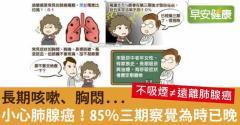 長期咳嗽、胸悶…小心肺腺癌!85%三期察覺為時已晚