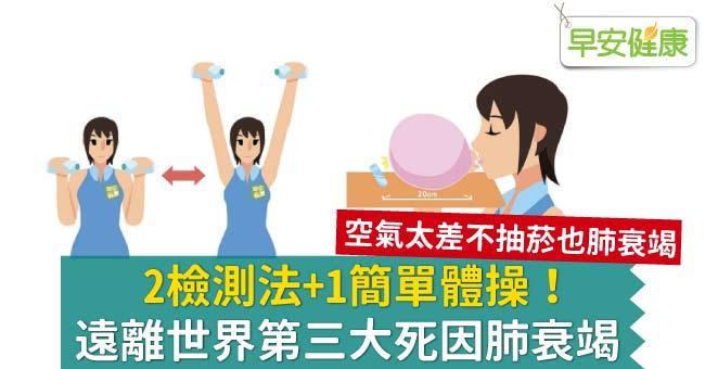 2檢測法+1簡單體操!遠離世界第三大死因肺衰竭