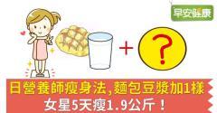 日營養師瘦身法,麵包豆漿加1樣,女星5天瘦1.9公斤!
