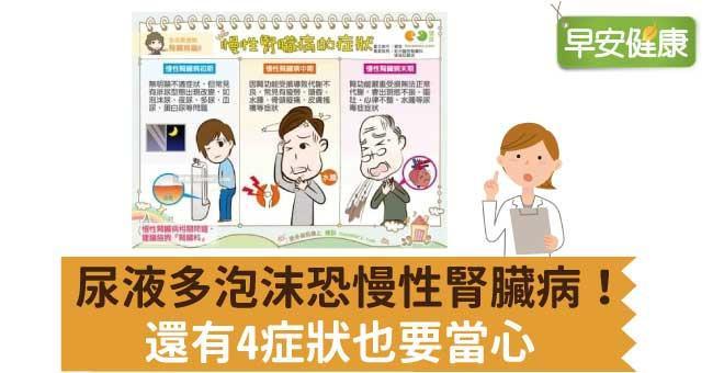 尿液多泡沫恐慢性腎臟病!還有4症狀也要當心