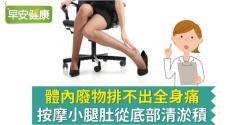 體內廢物排不出全身痛,按摩小腿肚從底部清淤積