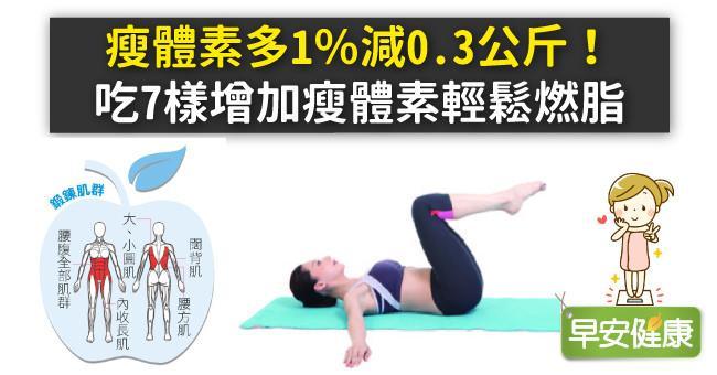 瘦體素多1%減0.3公斤!吃7樣增加瘦體素輕鬆燃脂