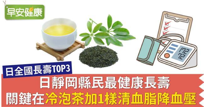 日靜岡縣民最健康長壽,關鍵在冷泡茶加1樣清血脂降血壓