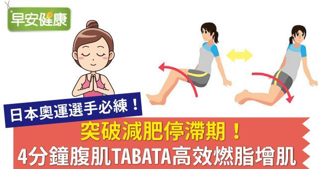 突破減肥停滯期!4分鐘腹肌TABATA高效燃脂增肌